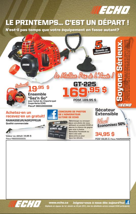 Promotion Echo Printemps 2012