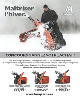 Gagnant du concours «Gagnez votre chasse-neige» Husqvarna