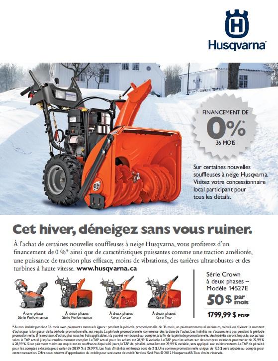 Publicité Husqvarna dans le Journal de Montréal
