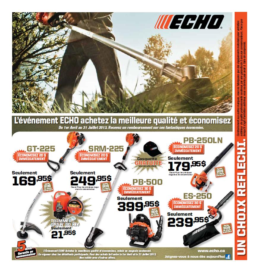 Promotion ECHO Printemps 2013