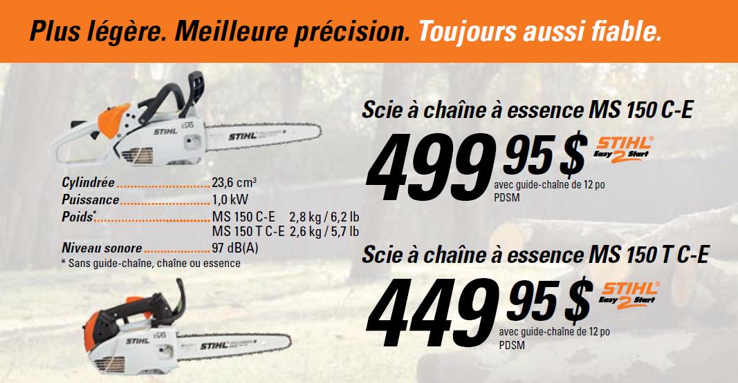 La scie à chaîne la plus légère sur le marché: la MS150C-E de STIHL