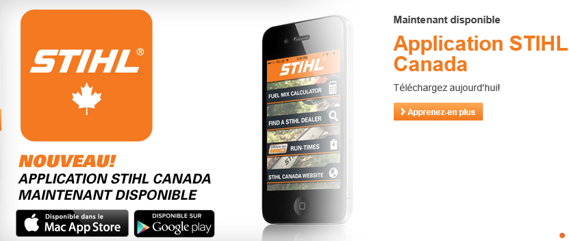 Nouvelle application STIHL pour iPhone et Android