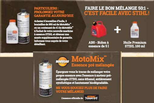 Mélange huile-gaz pour moteurs 2 temps