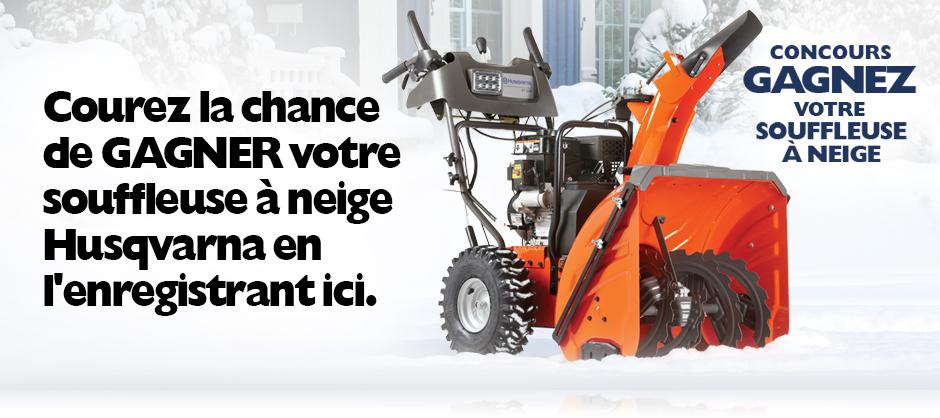 gagnez votre souffleuse achat husqvarna promo promotion hiver 2014 2015 snowblower concours