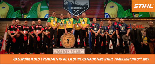Calendrier des événements Stihl Timbersports 2015