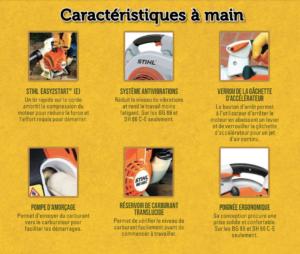 CARACTÉRISTIQUES SOUFFLEUR À MAIN STIHL LEAF BLOWER CARACTERISTICS BG55