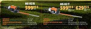 taille haie stihl hs82r hs82t hedge trimmer