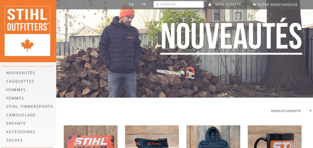 Stihl Outfitter est maintenant disponible au Canada!