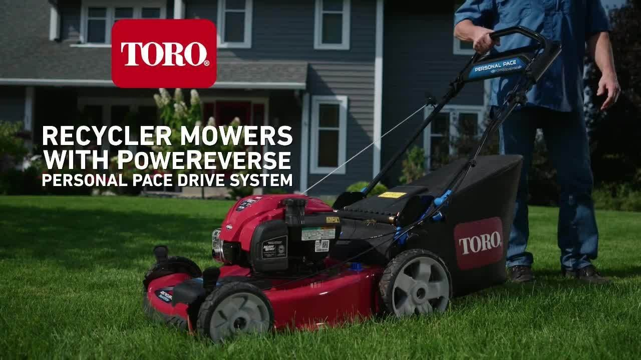 Nouveau Toro Recycler Mowers with PoweReverse Self Propel