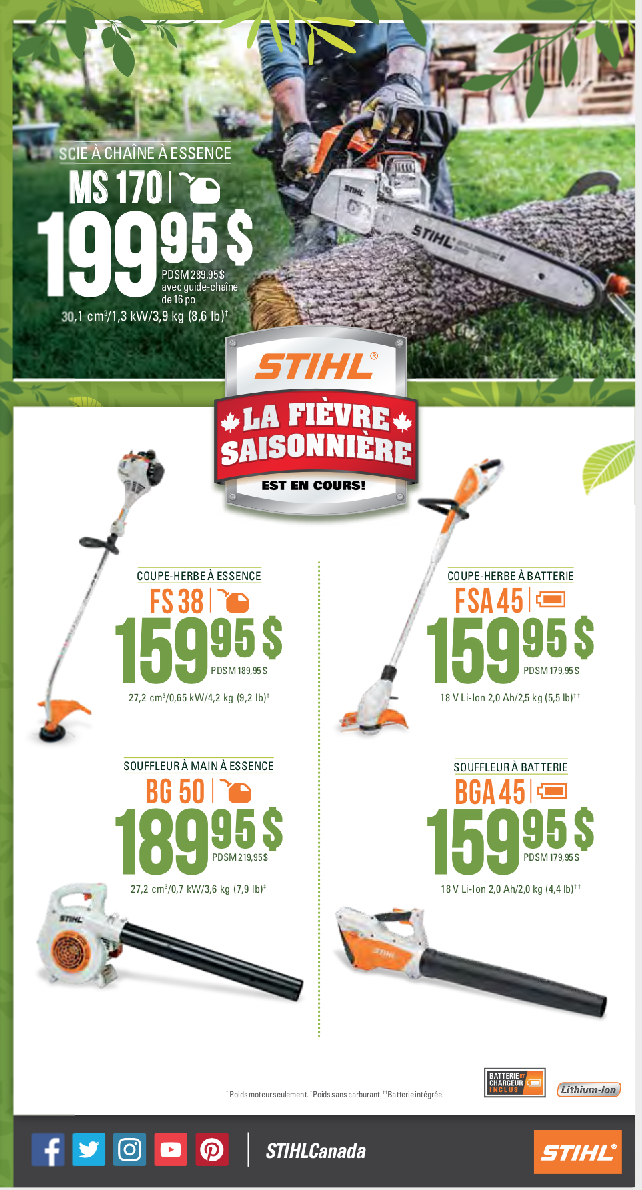 Promotions STIHL Printemps 2019