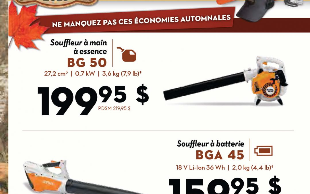 Promotions STIHL Été-Automne 2019