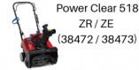 TORO Power Clear 518 ZR / ZE (38472/38473)