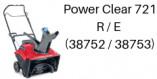 TORO Power Clear 721 R / E (38752 / 38753)