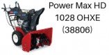 TORO Power Max HD1028 OHXE Commerciale (38802 et 38806)