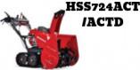 Souffleuses Honda HSS724ACT ( D )